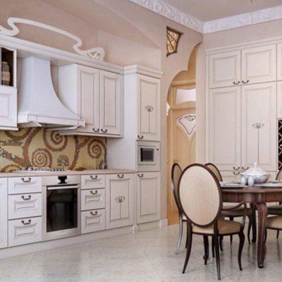 Кухня барокко интерьера
