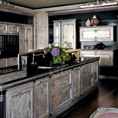 Черный оттенок на кухне