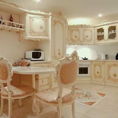 Интерьер кухни барокко