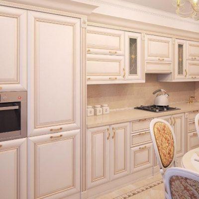 Мебель кухонная барокко стиля прямая