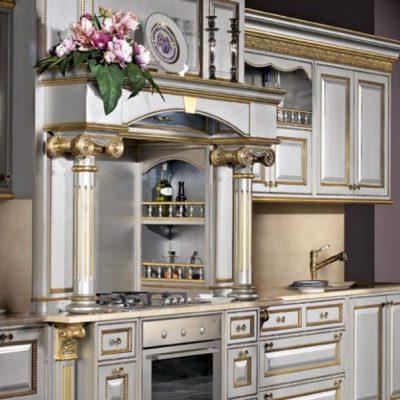 Кухонный гарнитур барокко стиля