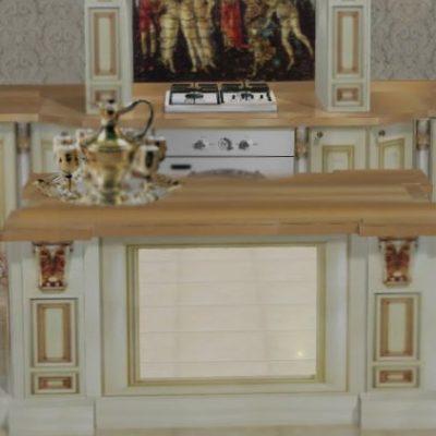 Пример гарнитура кухни в барокко