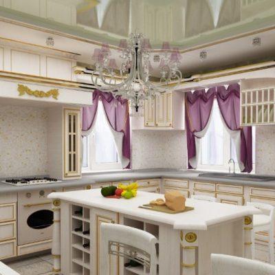 Роспись гарнитура кухонного