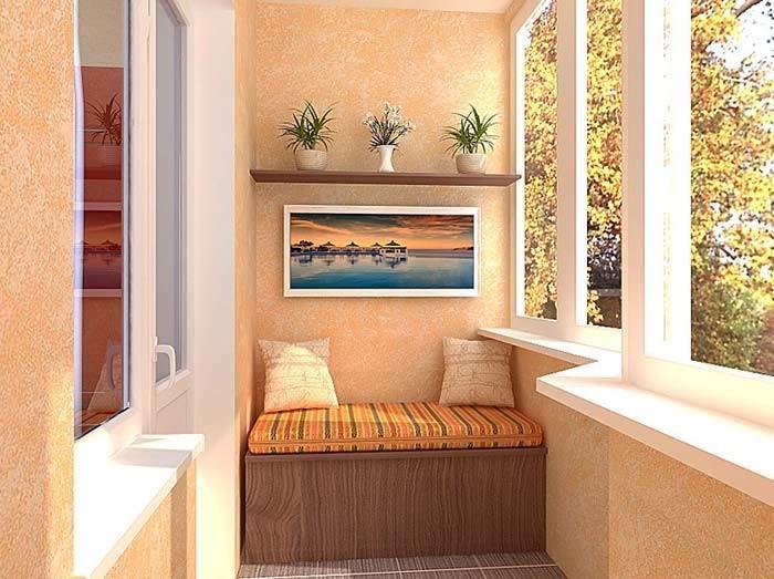 Простой диванчик на балкон