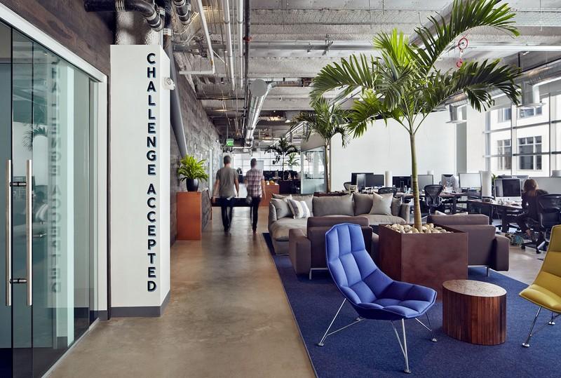 Современный дизайн офиса (Dropbox в Калифорнии)