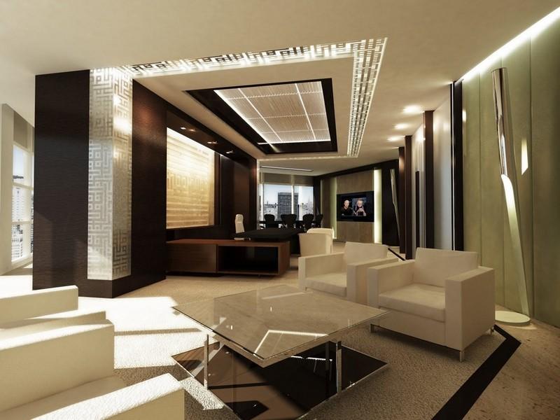 Зал для переговоров в современном офисе