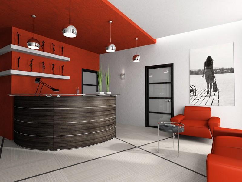 Дизайн приемной современного офиса