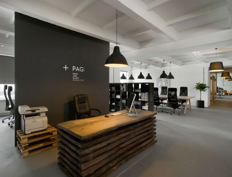 Креативный дизайн приемной офиса фото