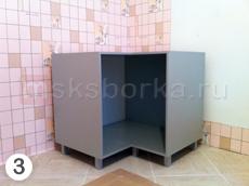 Рис. 3. Напольный угловой кухонный шкаф