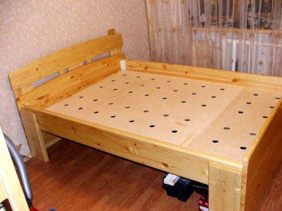 Самодельный каркас кровати