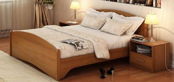 ДСП и МДФ в исполнении кровати