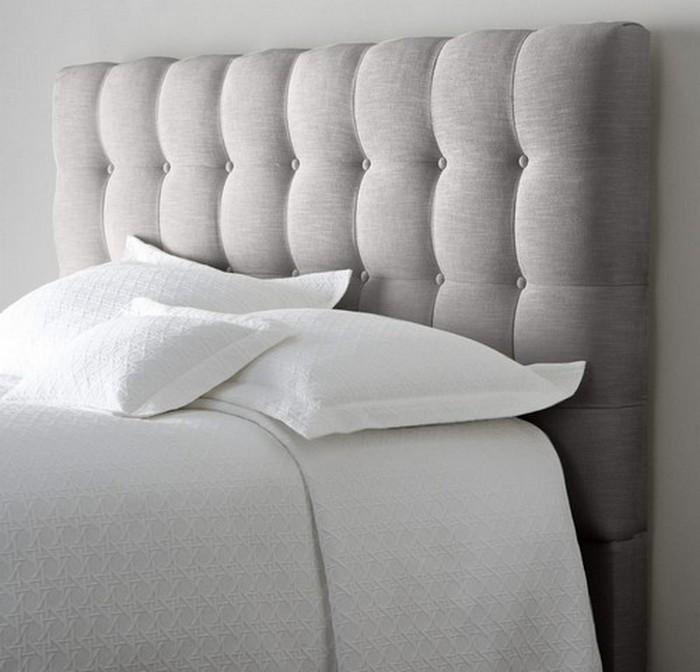 Спинка кровати с текстильной обработкой