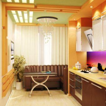 Кухня с балконом (59)