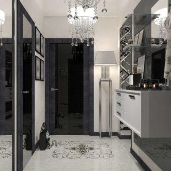 Черная прихожая — элегантный и строгий дизайн (90 фото)