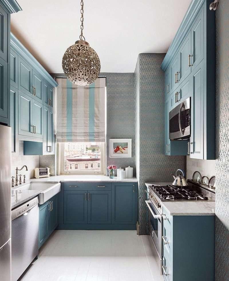 узкая кухня дизайн интерьера