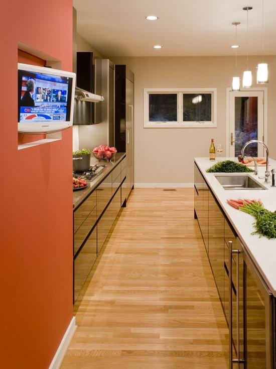 узкая кухня идеи