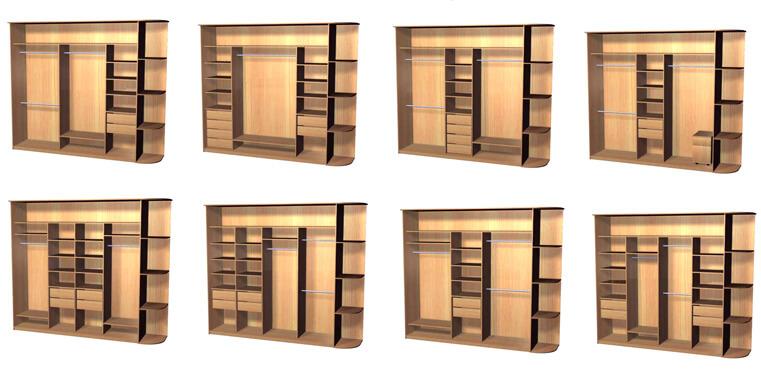 Разновидности встроенных шкафов-купе