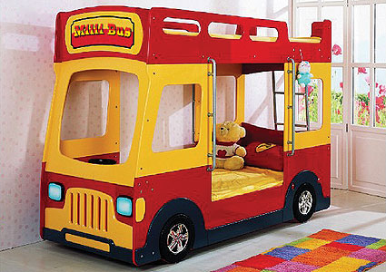 Кровать машинка двухэтажный автобус