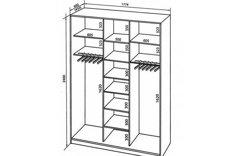 Встроенный шкаф-купе своими руками