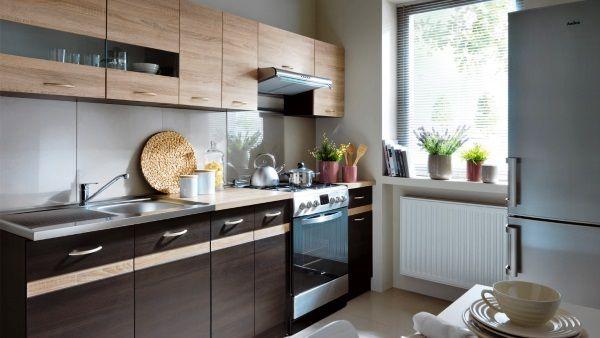 Дизайн прямой кухни фото