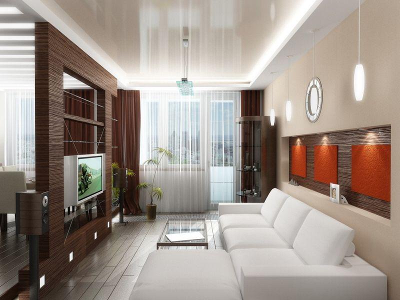 Оформление стандартной гостиной комнаты