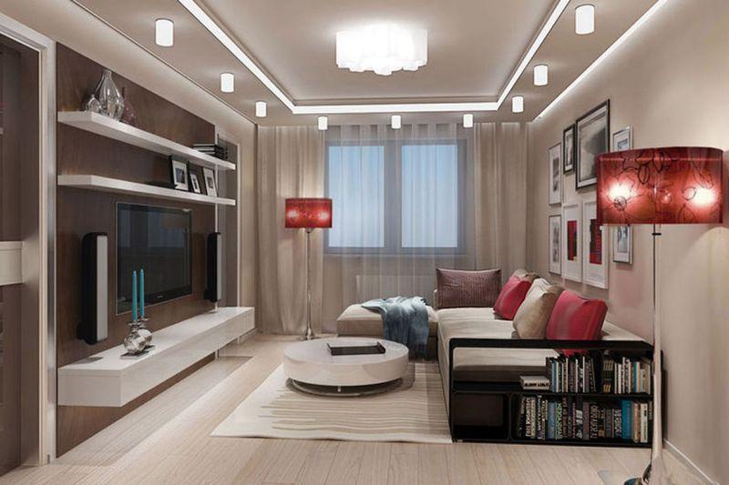 Оформление гостиной комнаты в хрущевке