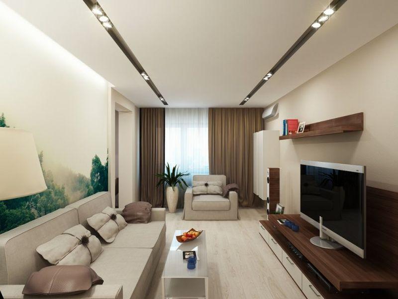 Оформление гостиной комнаты в маленькой квартире цветовая гамма