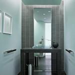 Большое зеркало в пол в ванной коинате