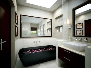 Дизайн ванной комнаты в хай-тек стиле