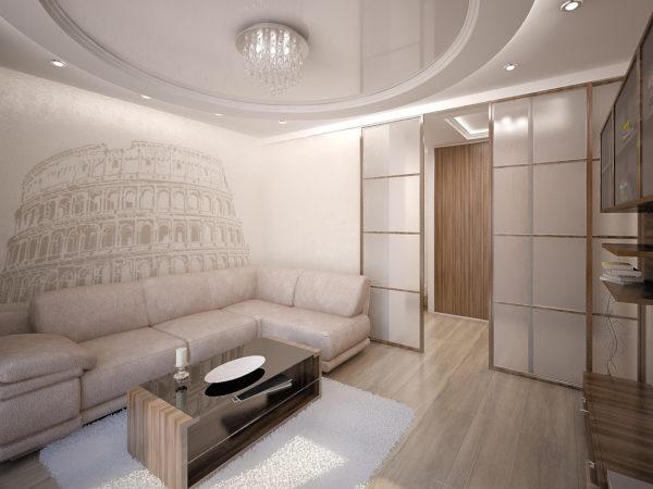 фото колизея в сепии на стене