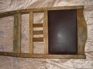 Собранная задняя спинка стула