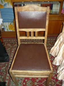Вид на готовый отремонтированный стул