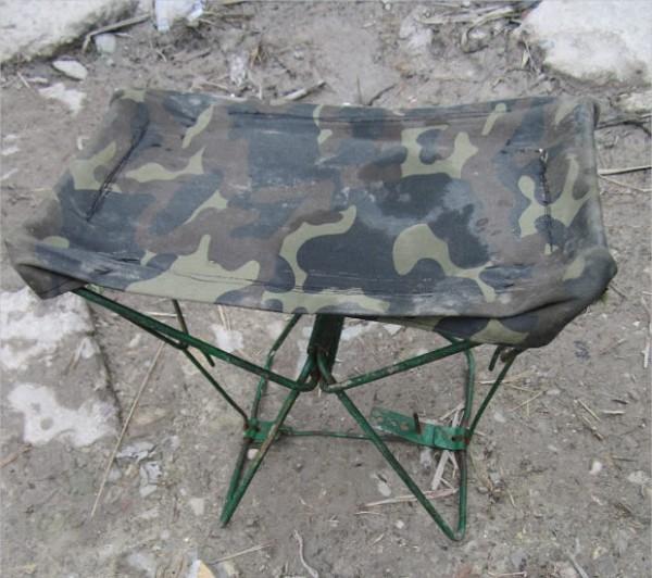 Металлический складной стул