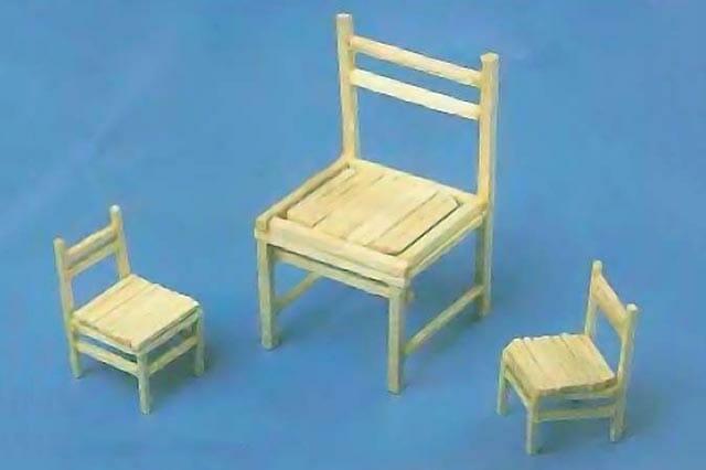 Мебель из спичек (стулья)