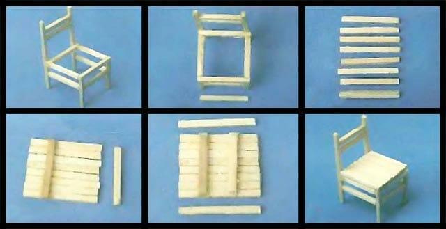 Инструкция по сбору стульчика из спичек: 2
