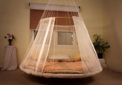 Подвесная кровать-гамак круглая