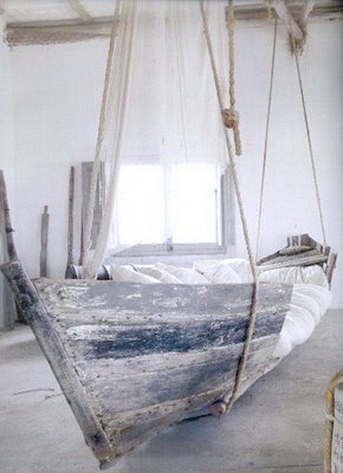 Подвесная кровать-корабль для детской