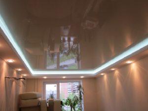 Современные 2-х уровневые потолки высокого качества