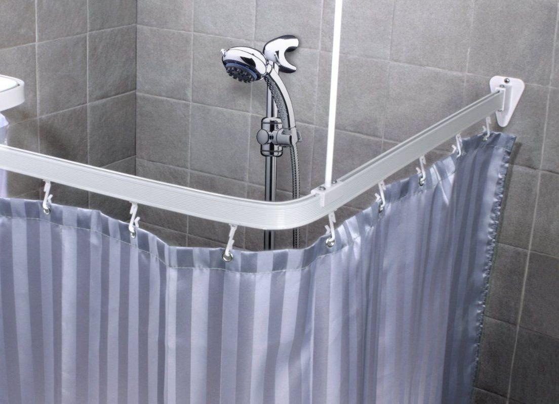 Пластиковый угловой карниз для ванной