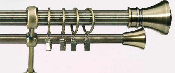 Всегда актуален и гигиеничен карниз металлический двухрядный.
