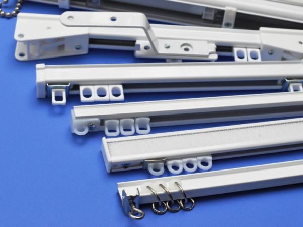 Карнизы для тяжелых штор лучше выбирать из алюминиевого профиля