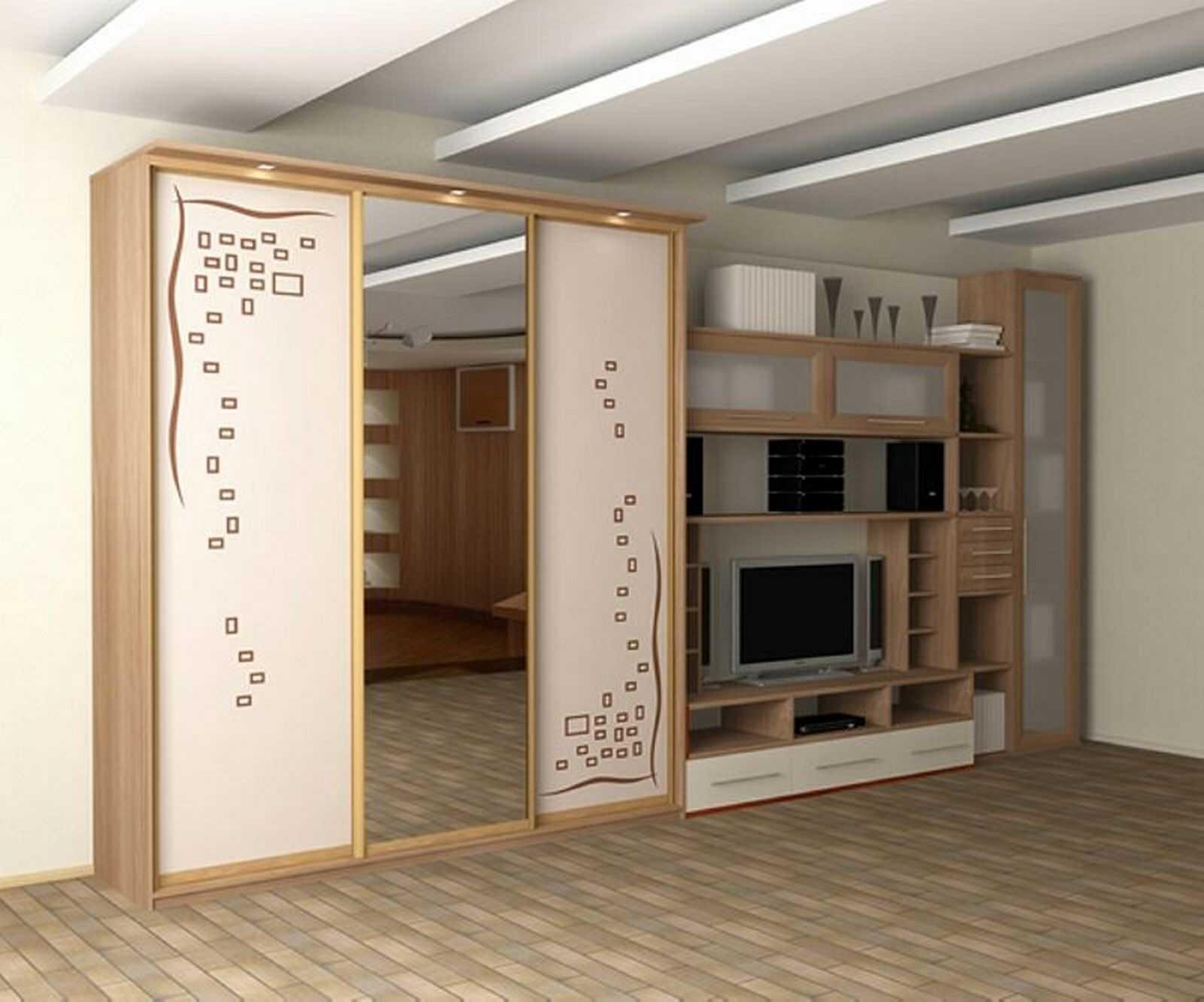современный стиль гостиной комнаты со стенкой для обуви