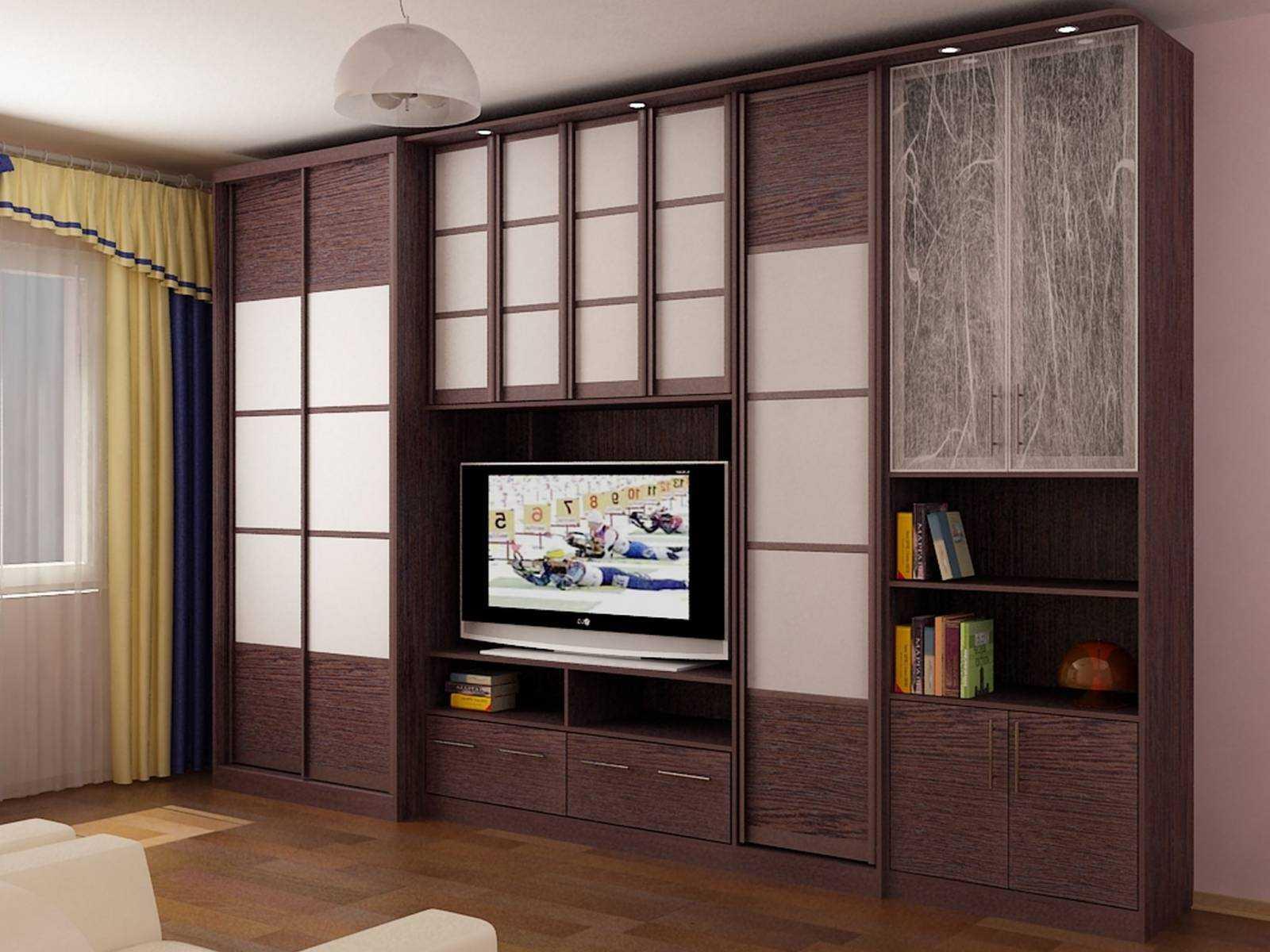 современный декор гостиной комнаты со стенкой для обуви