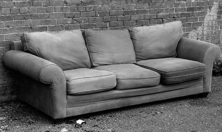 Выкинули диван из за клопов