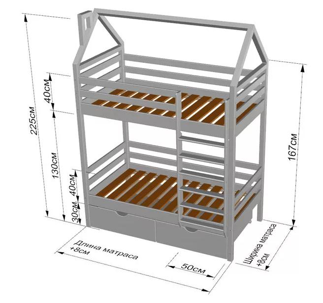 Схема: Кровать домик