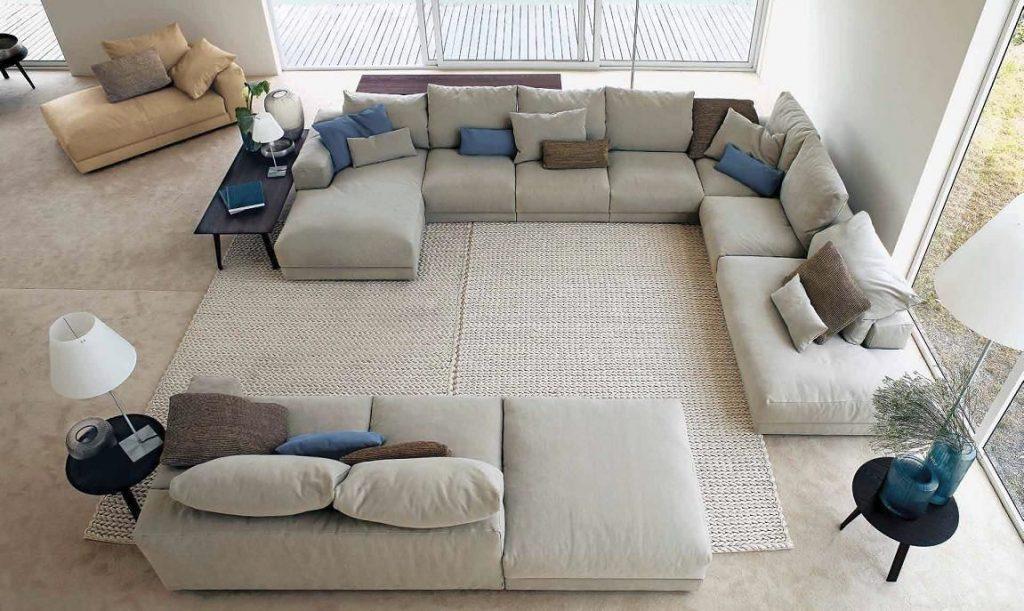 Модульный диван большой