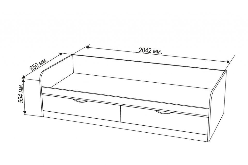 Схема: Детская кровать с ящиками