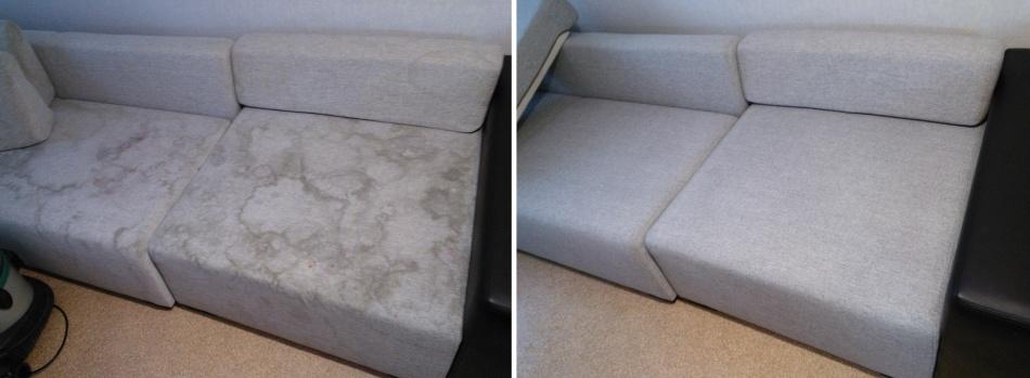 Чистка дивана от разводов