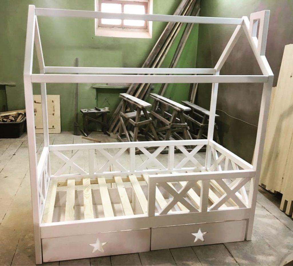 Детская кровать домик своими руками
