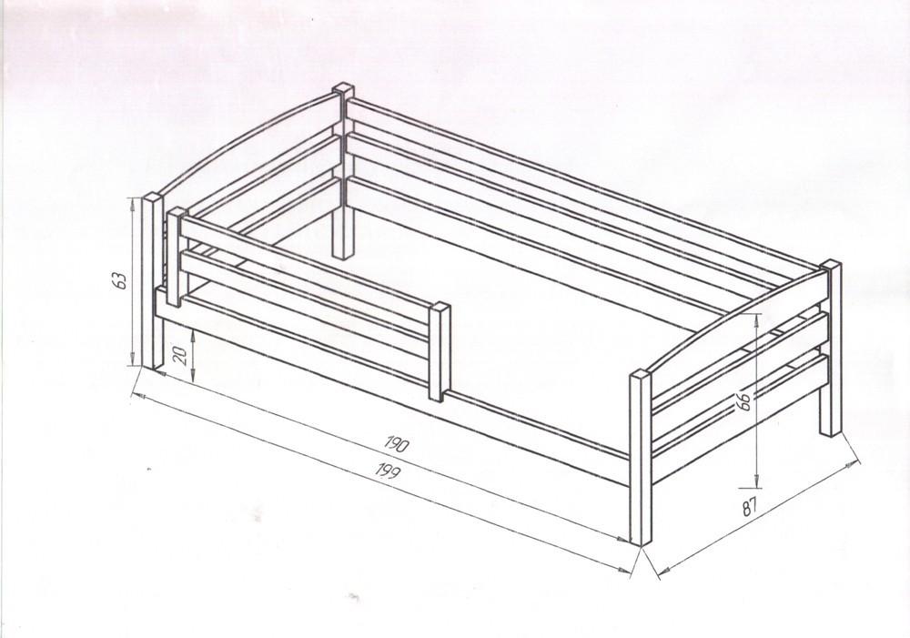 Схема: Кровать с бортиками